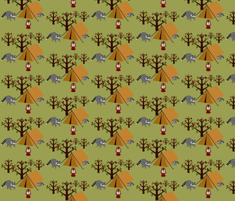 At Camp Funday / tents fabric by paragonstudios on Spoonflower - custom fabric