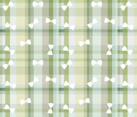 Plaid BowTie fabric by youforgotthis on Spoonflower - custom fabric
