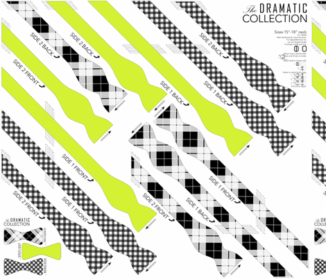 BOWTIE DIY: Dramatic Collection fabric by avelis on Spoonflower - custom fabric