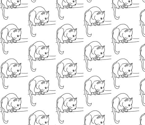 meow fabric by jesilangdaleanderson on Spoonflower - custom fabric