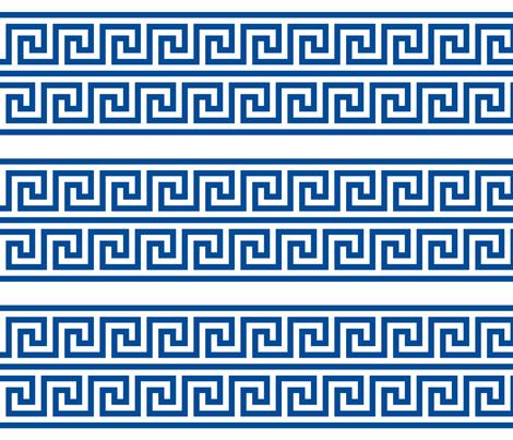 Greek Key double row border fabric by zephyrous on Spoonflower - custom fabric