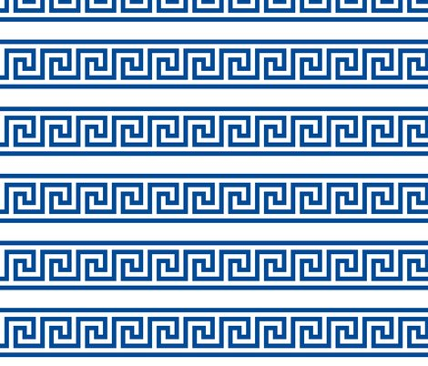 Greek Key Single Row Border Fabric Zephyrous Spoonflower
