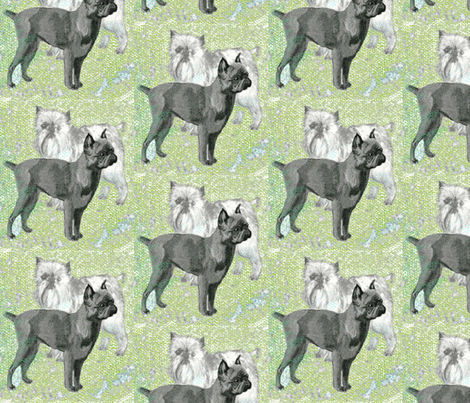Brussels Griffon fabric fabric by dogdaze_ on Spoonflower - custom fabric