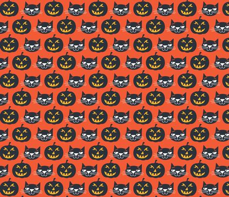 Black Cat fabric by edward_elementary on Spoonflower - custom fabric
