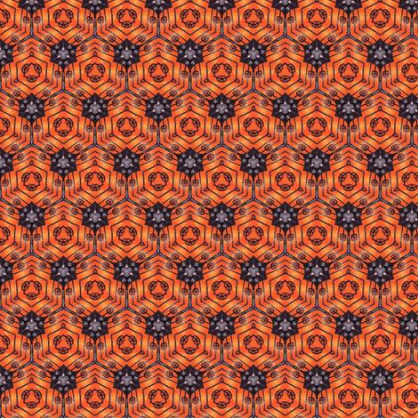 Sunset Cells fabric by siya on Spoonflower - custom fabric