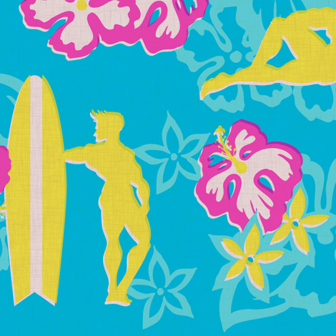 Muscle Beach - surf fabric by thecalvarium on Spoonflower - custom fabric
