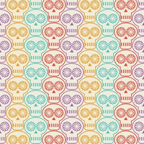 Day of the Dead Skulls Tesselation.