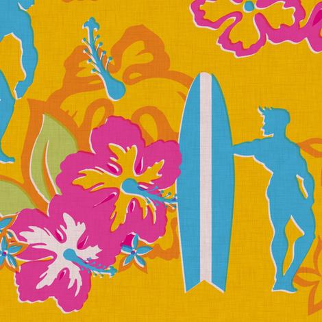 Muscle Beach - sun fabric by thecalvarium on Spoonflower - custom fabric