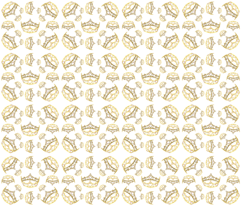 Queen Of Hearts Crown By Kristie Hubler fabric by fabricatedframes on Spoonflower - custom fabric