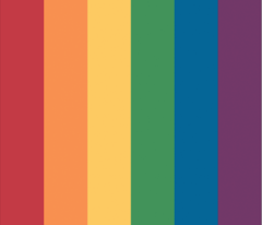 "Gay Pride Rainbow 1"" stripes"