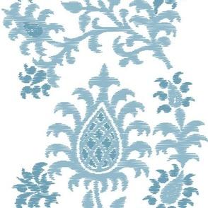 Pastel Blue Damask