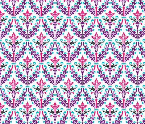 The Damask Divine ~ Agnes fabric by peacoquettedesigns on Spoonflower - custom fabric