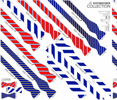 BOWTIE DIY: Distinguished Collection fabric by avelis on Spoonflower - custom fabric