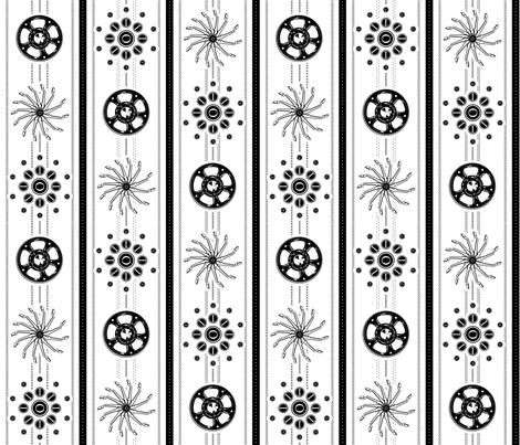 Type Bars, Ribbon, and Keys fabric by ninniku on Spoonflower - custom fabric