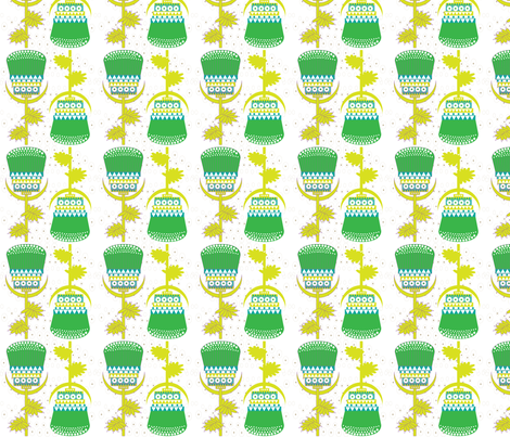 Totem thistle fabric by akwaflorell on Spoonflower - custom fabric