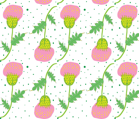 thistle like children drawing fabric by akwaflorell on Spoonflower - custom fabric