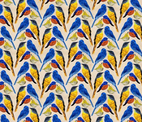 Johns Birds fabric - bygarlands - Spoonflower