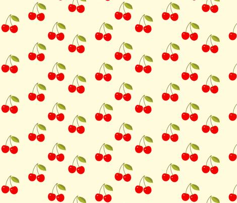 Red_Cherries fabric by kiki_ on Spoonflower - custom fabric