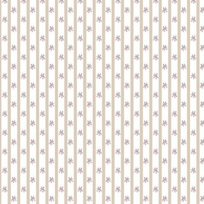 Lavender Flowers with Beige Stripes
