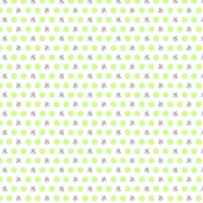 Lavender Flowers with Green Dots