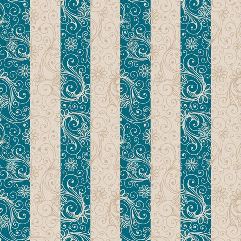 Teal_taupe_floral_stripes_shop_preview