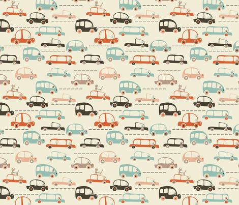 cartoon cars in vector fabric by anastasiia-ku on Spoonflower - custom fabric