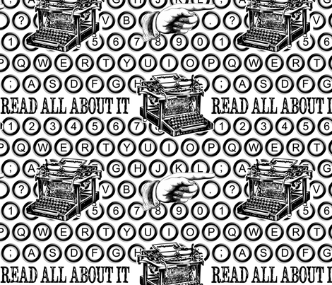 Black and White and Read All Over fabric by risarocksit on Spoonflower - custom fabric