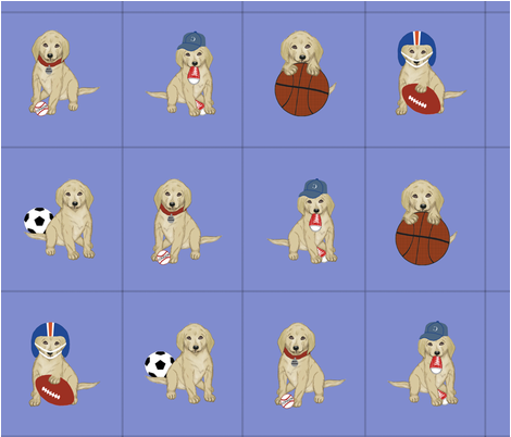 Sports Puppy Cutouts fabric by cksstudio80 on Spoonflower - custom fabric