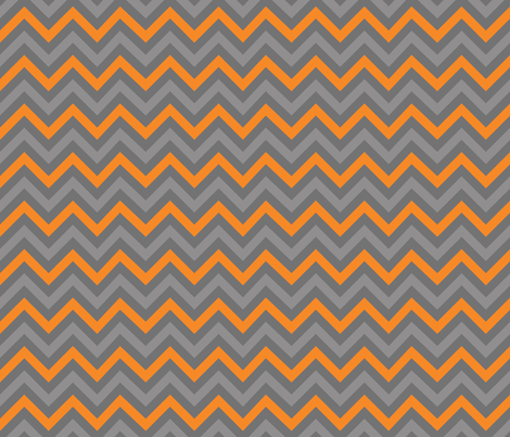 Robot Chevron (Orange) fabric by robyriker on Spoonflower - custom fabric