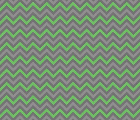 Robot Chevron (Green) fabric by robyriker on Spoonflower - custom fabric