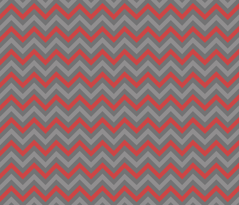Robot Chevron (Red) fabric by robyriker on Spoonflower - custom fabric