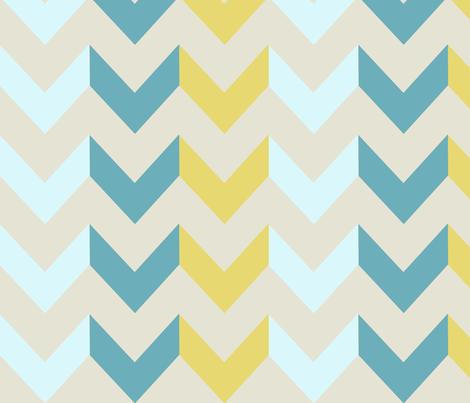 Lagoon Chevron fabric by allisajacobs on Spoonflower - custom fabric