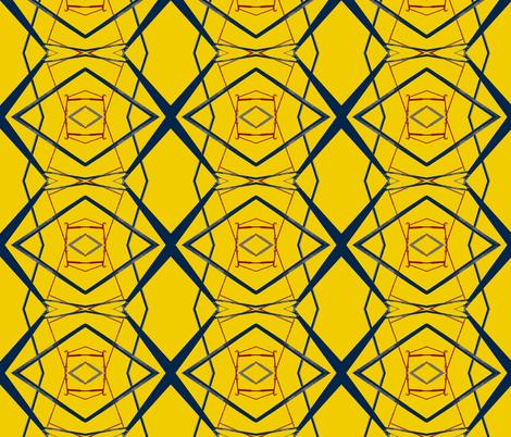 Modrian Ate Here fabric by susaninparis on Spoonflower - custom fabric