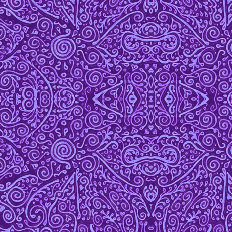 bridal mendhi - purple fabric by weavingmajor on Spoonflower - custom fabric