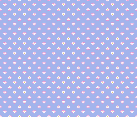 Dot Lotus Pink on Blue BG fabric by thelazygiraffe on Spoonflower - custom fabric