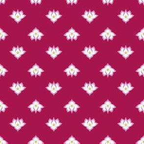 Dot Lotus Pink on Dk Pink