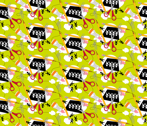 Snips n' splats ~ Green fabric by retrorudolphs on Spoonflower - custom fabric