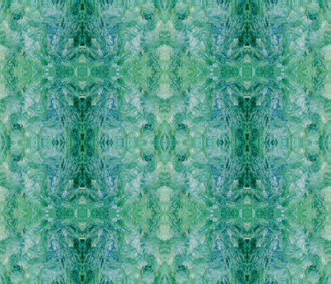 Brushstrokes In Green (Seraphinite) fabric by prettyrockdesigns on Spoonflower - custom fabric