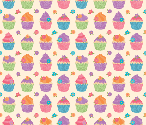 Cupcake Delight fabric by wrapartist on Spoonflower - custom fabric