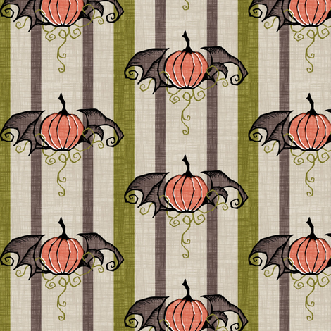 Vintage Pumpkins fabric by thecalvarium on Spoonflower - custom fabric