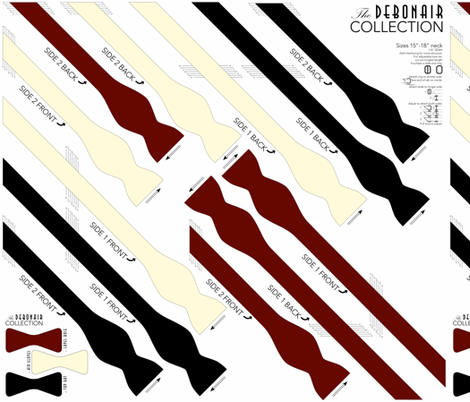 BOWTIE DIY: Debonair Collection fabric by avelis on Spoonflower - custom fabric