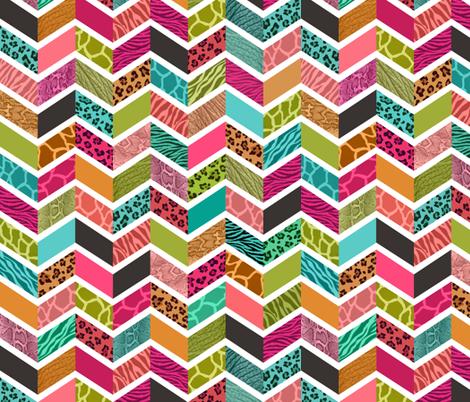 Animal Print Chevron - Springtime Palette fabric by run_quiltgirl_run on Spoonflower - custom fabric