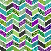 Animal Print Chevron - Jewel Tones