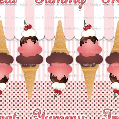 Pink Ice Cream Cones