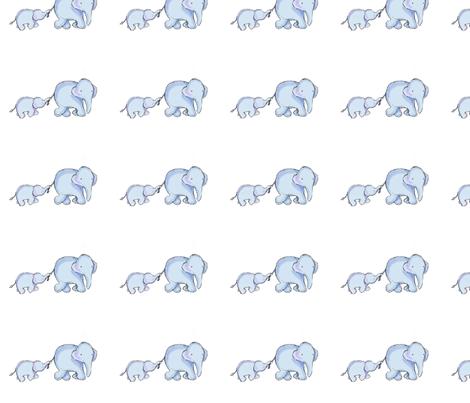 Elephant love medley fabric by kbwell3 on Spoonflower - custom fabric