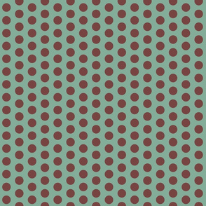 Chocolate dots on teal