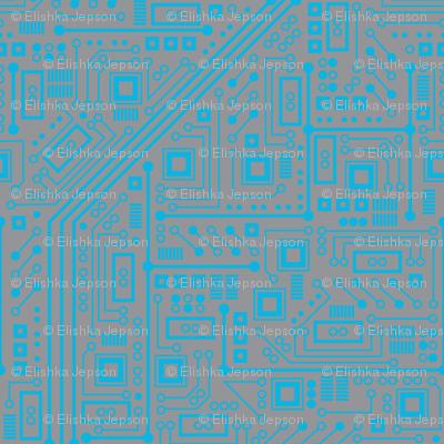 Robotika Circuit Board (Blue and Gray)