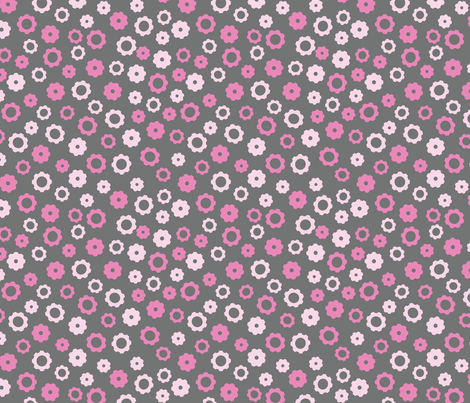 Robotika Gears (Pink) fabric by robyriker on Spoonflower - custom fabric