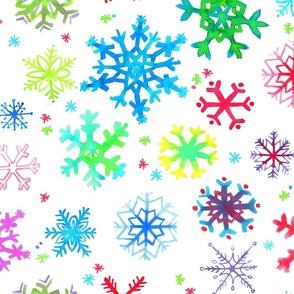 Handpainted Snowflakes