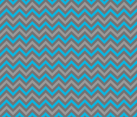 Robotika Chevron (Blue) fabric by robyriker on Spoonflower - custom fabric